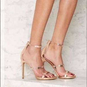 Nasty Gal clear gel heels in for the thrill open